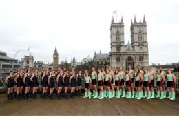 during The 2016 Cancer Research UK Boat Races Crew Announcement at Central Hall on March 1, 2016 in London, England.
