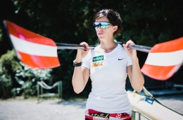 VIENNA,AUSTRIA,24.JUN.17 - OLYMPICS, ROWING - OEOC, photo shooting with Magdalena Lobnig. Image shows Magdalena Lobnig (AUT). Photo: GEPA pictures/ Christopher Kelemen
